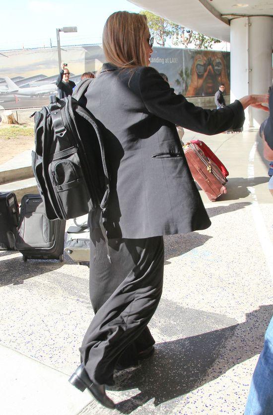 Angelina Jolie na lotnisku