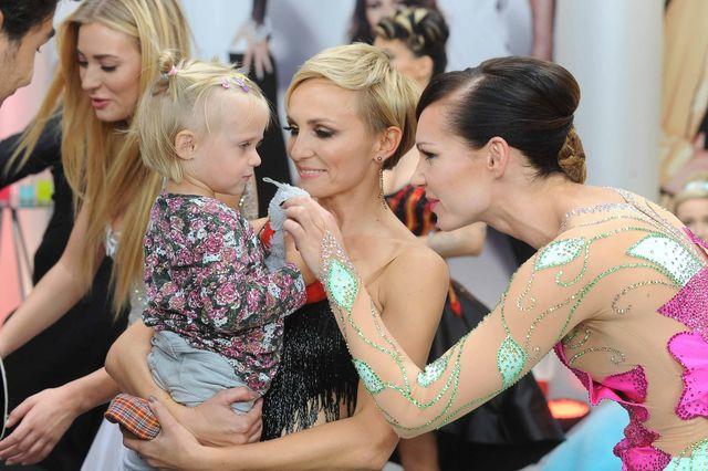 Anna Wyszkoni z córeczką i Nina Tyrka