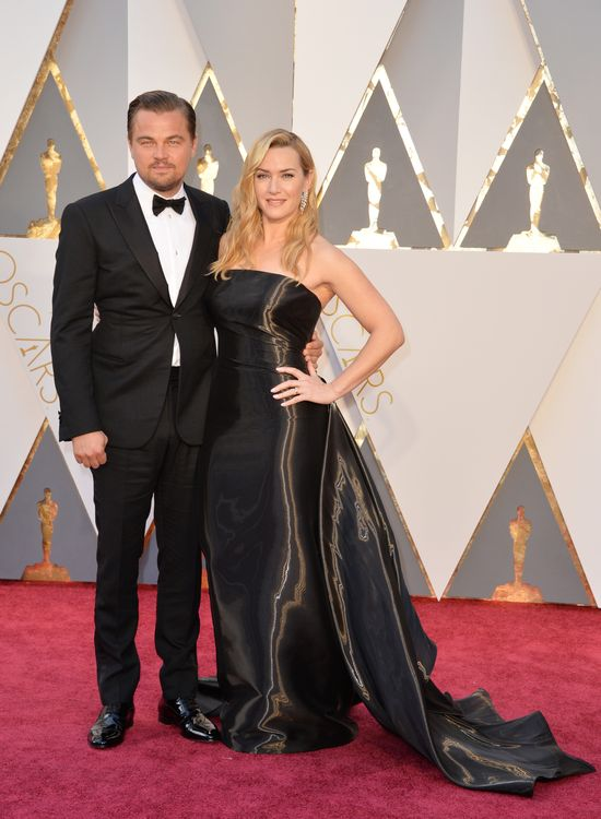 Leonardo DiCaprio i Kate Winslet na rozdaniu Oscarów 2016