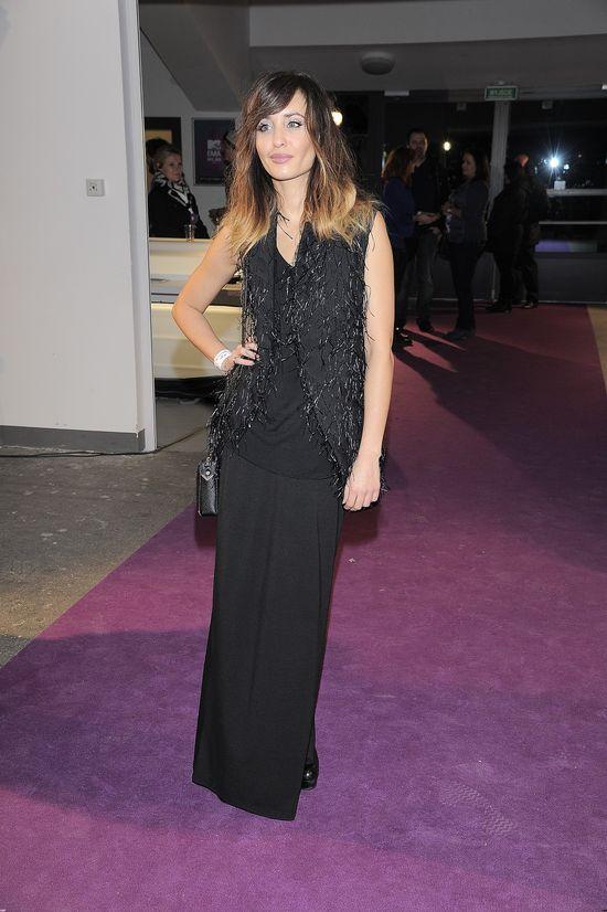 Agata Nizińska w czarnej sukni na imprezie MTV EMA Pre-Party