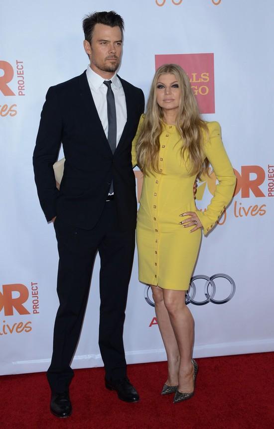 Fergie i Josh Duhamel na gali Trevor Project - grudzień 2013 r.