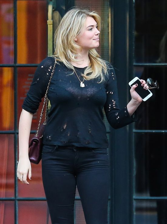Kate Upton w koronkowej bluzce