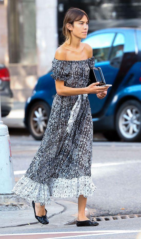 Alexa Chung, sukienka maxi