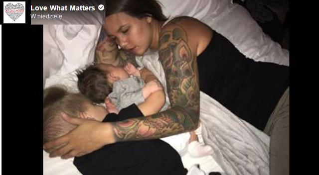 Dlaczego to zdjęcie mamy śpiącej z dziećmi stało się viralem i wywołało dyskusję?