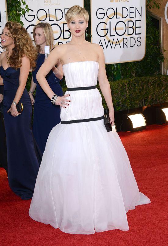 Jennifer Lawrence na rozdaniu Złotych Globów, 2014