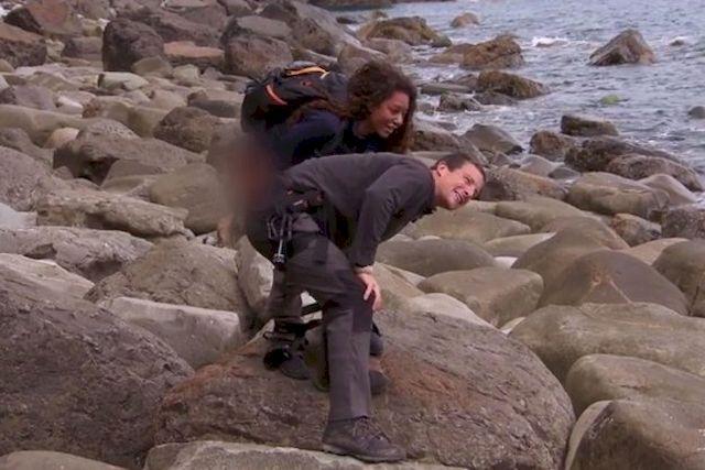 Mel B musiała OBSIKAĆ Beara Gryllsa, aby ulżyćmu w cierpieniu! (VIDEO)