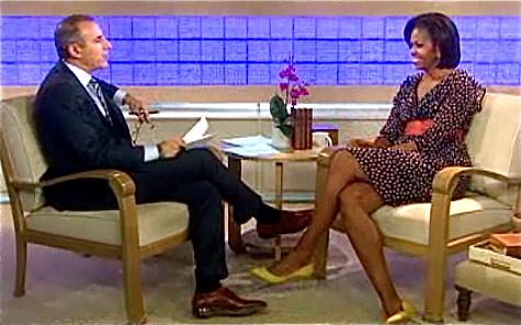 Michelle Obama w sukience H&M.
