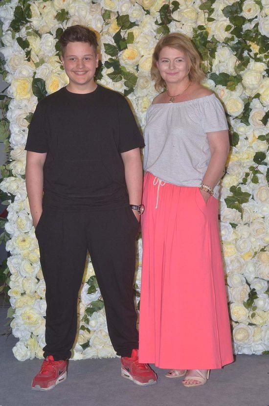 Dominika Ostałowska z synem na imprezie Viva Mama, Tata i Ja, czerwiec 2016