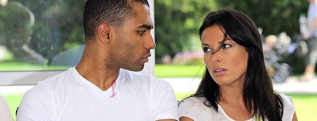 Katarzyna Glinka pozuje z Samuelem Palmerem