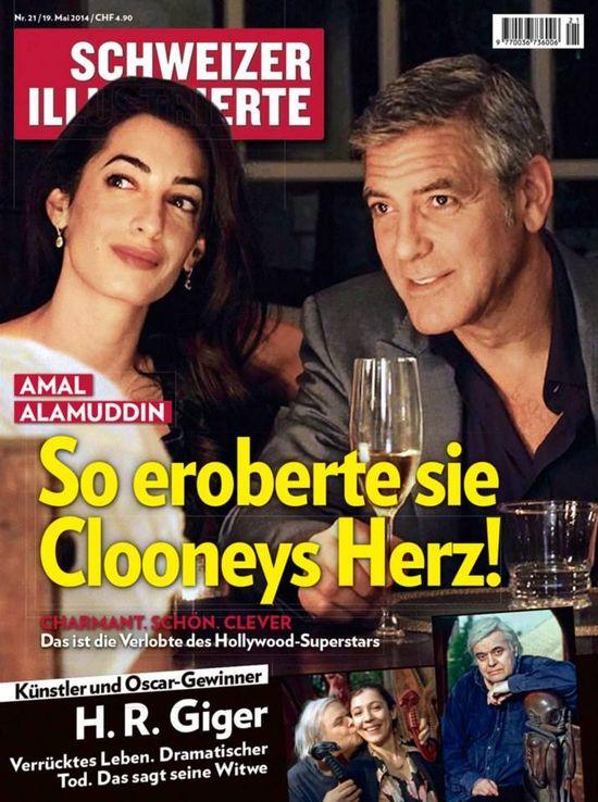 George Clooney i Amal Amaluddin na okładkach