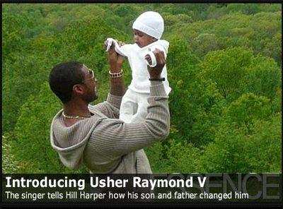 Usher pokazuje dziecko (FOTO)