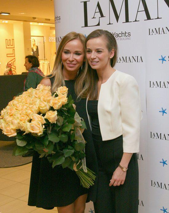 Anna Przybylska w czasie jednego z ostatnich publicznych wystąpień - na pokazie marki La Mania z Joanną Przetakiewicz. Styczeń 2013 rok.