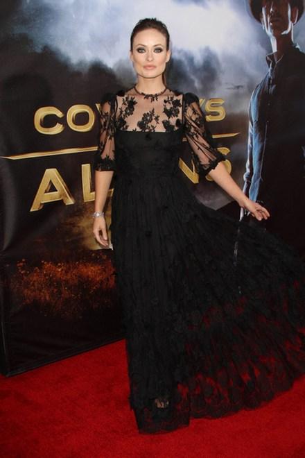 Olivia Wilde, koronkowa sukienka