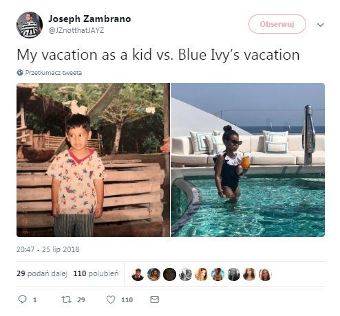 6-letnia Blue Ivy z drinkiem na luksusowym jachcie