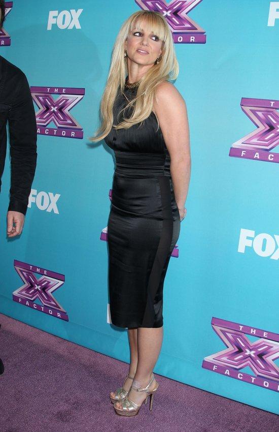 Britney Spears podczas finału X Factor