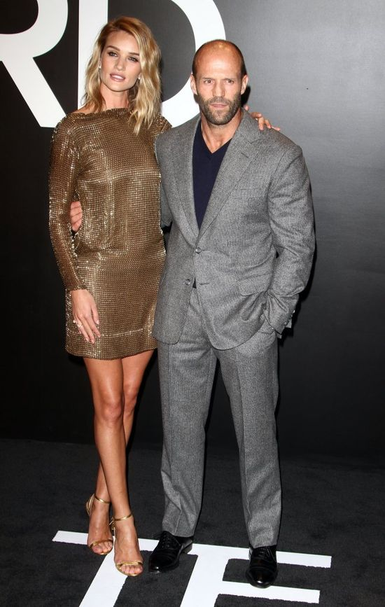 Rosie Huntington-Whiteley i Jason Statham razem