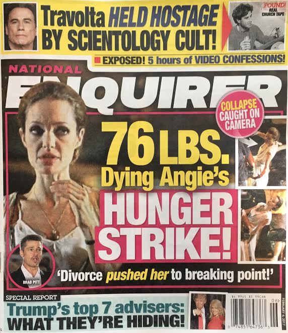 Kilka tygodni temu świat na chwilę się zatrzymał, by z niedowierzaniem zerknąć na okładkę magazynu National Enquire, z którego spoglądała na nas nienaturalnie wychudzona Angelina Jolie (42 l.).