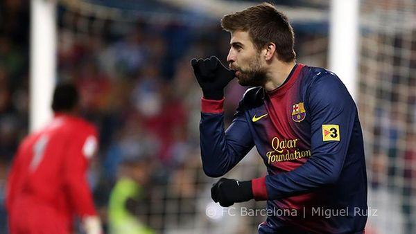 Gerard Pique strzelił bramkę dla synka (FOTO)