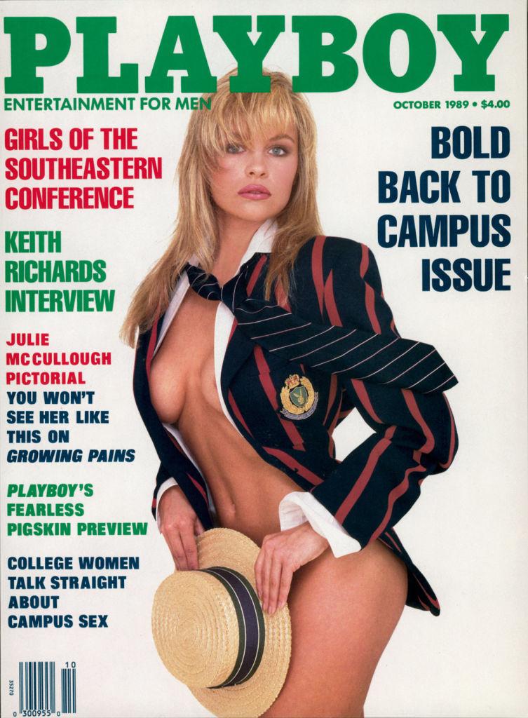 Pamela Anderson na okładce Playboya w październiku 1989 roku. Gwiazda miała wtedy 26 lat.