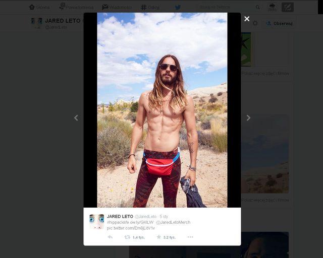 Jared Leto topless - zdjęcie z Twittera