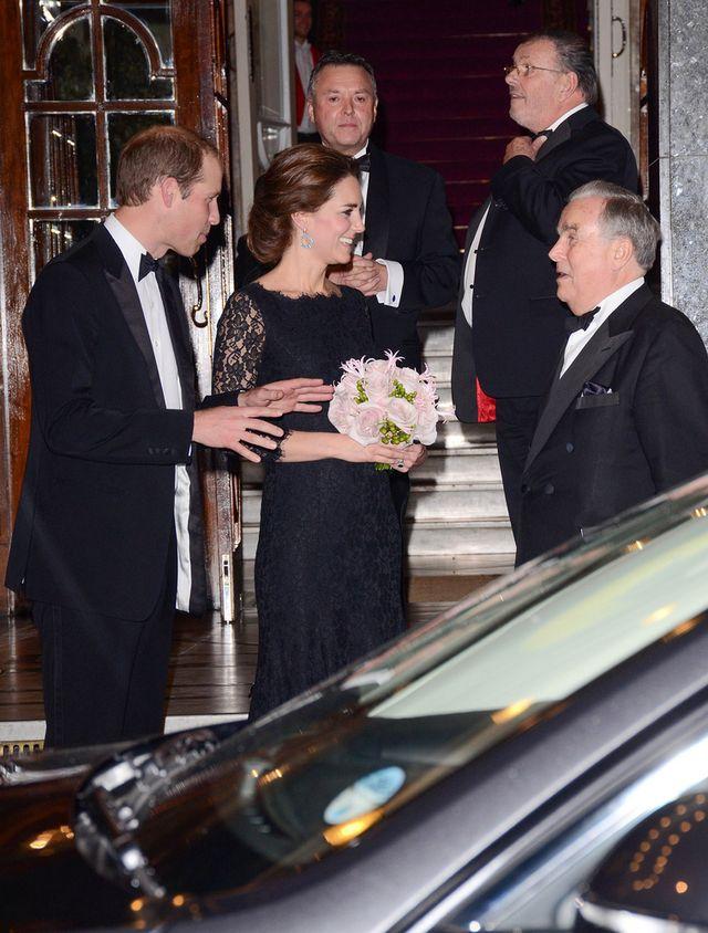 Księżna Kate w sukni projektu Diane von Furstenberg, listopad 2014.