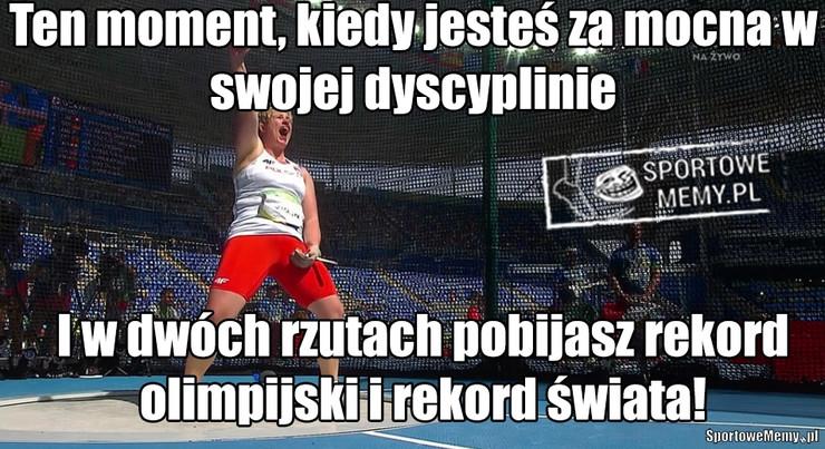 Anita Włodarczyk wywalczyła na olimpiadzie w Rio złoty medal w rzucie młotem