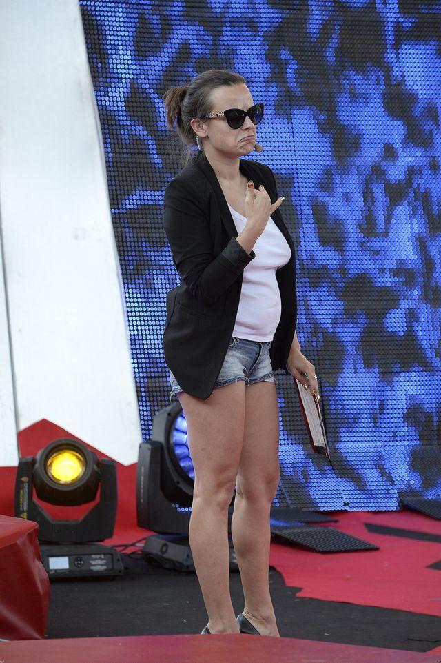 Anna Mucha na próbie przed Sabatem Czarownic 2014