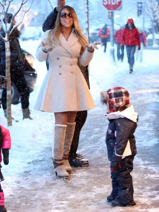 Mariah Carey na wakacjach z dziećmi w Aspen - zima 2013