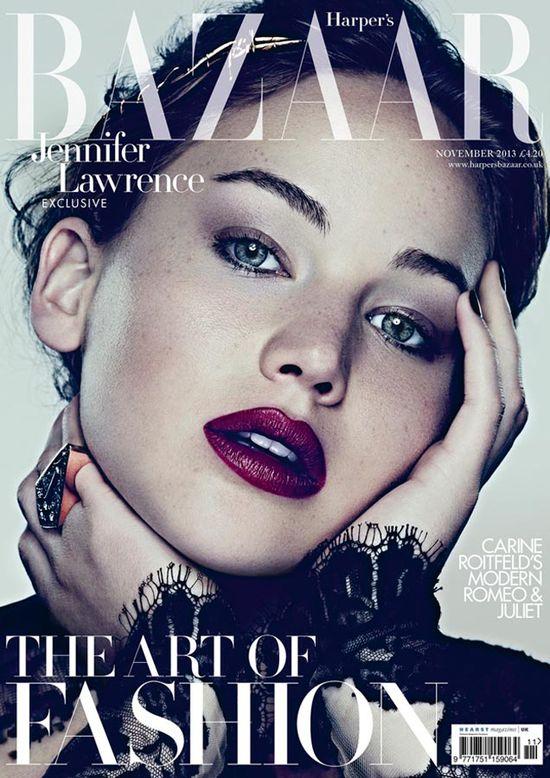 Jennifer Lawrence w Harper's Bazaar