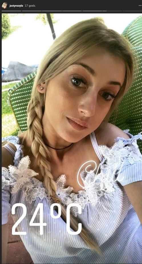 Po hejcie za Playboya Justyna Żyła w warkoczu (Instagram)