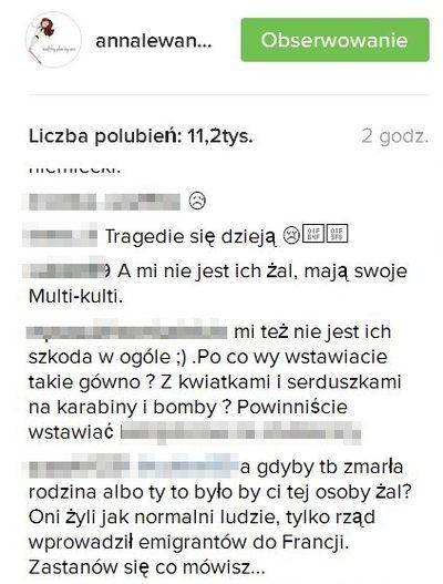 Na profilu Lewandowskiej zn�w ostra k��tnia: