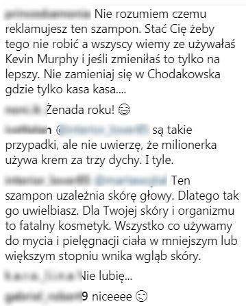 BURZA na Insta Lewandowskiej, poszło o szampon