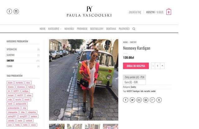 Natalia Siwiec w neonowym swetrze - nie jest bardzo drogi (Instagram)