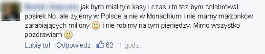 Ta rada Anny Lewandowskiej nie spodobała się internaucie