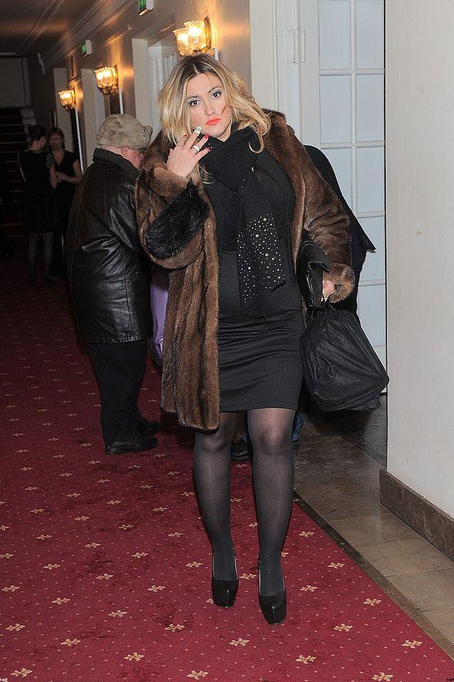 Karolina Szostak w futrze, styczeń 2014.