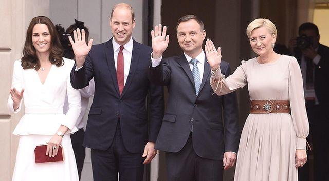 W co ubrały się księżna Kate i Agata Duda na pierwsze spotkanie w Polsce?