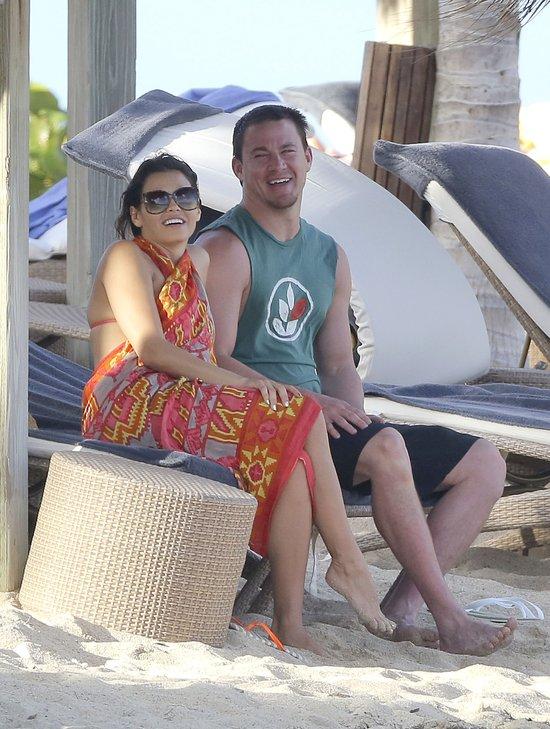 Channing Tatuum i ciężarna Jenna Dewan na plaży