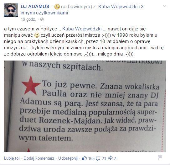 Ostre spi�cie na linii Kuba Wojew�dzki-Dj Adamus