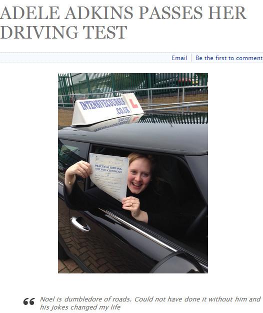 Instruktor jazdy nie rozpoznał Adele