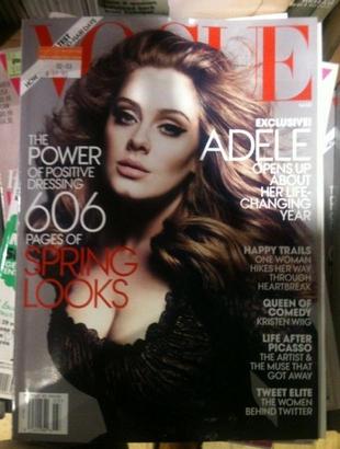 Chuda Adele z cyckami na wierzchu na okładce Vogue (FOTO)