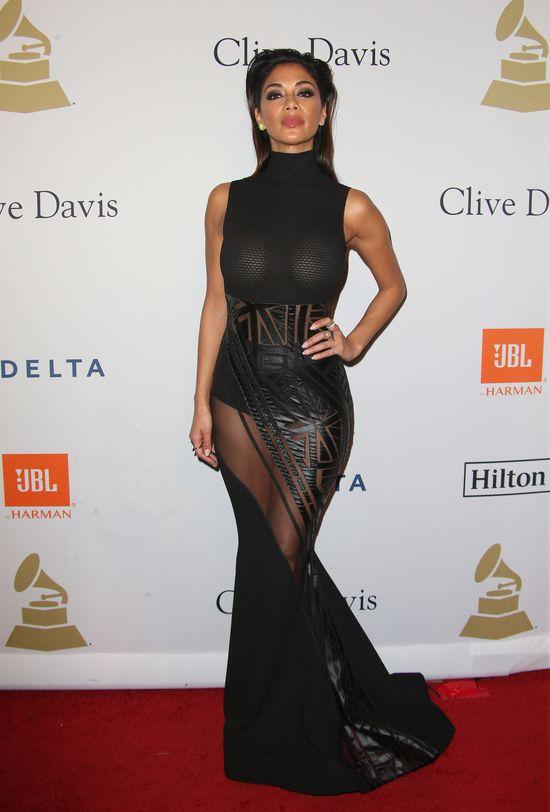 Nicole Scherzinger pokazała... sutki na imprezie przed Grammy!