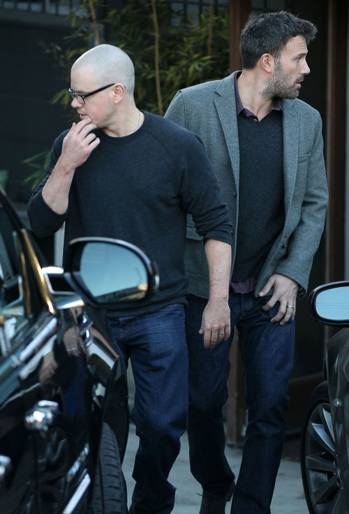 Ben Affleck i Matt Damon po spotkaniu...