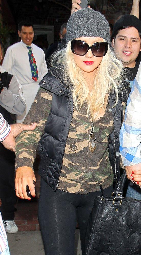 Christina Aguilera jednak wstydzi się swojej tuszy?
