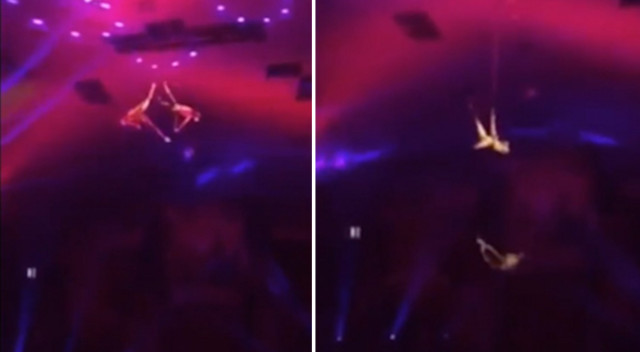Cyrkowy akrobata RUNĄŁ na arenę z wysokości 6 metrów (VIDEO)