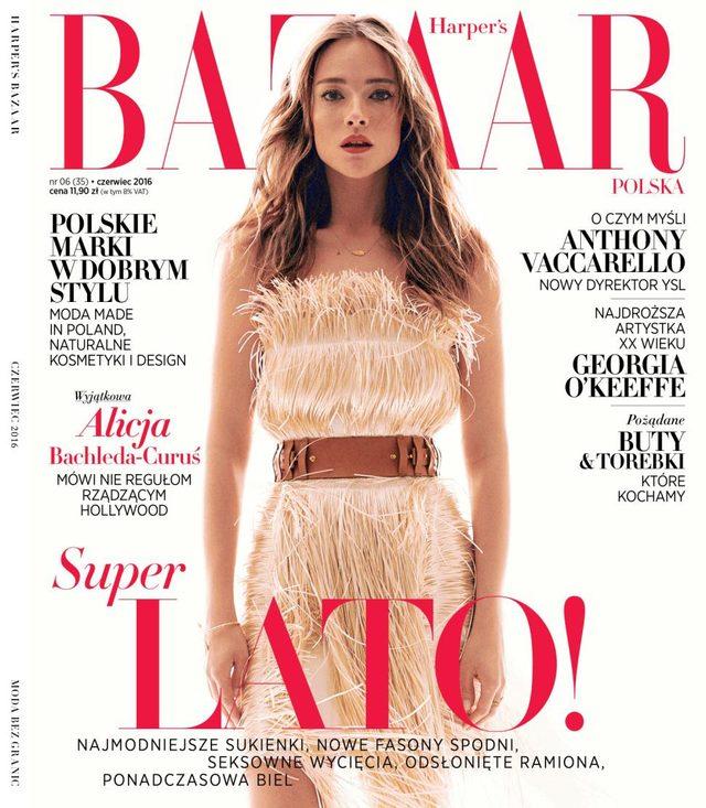 Alicja Bachleda-Curuś w nowym Harper's Bazaar