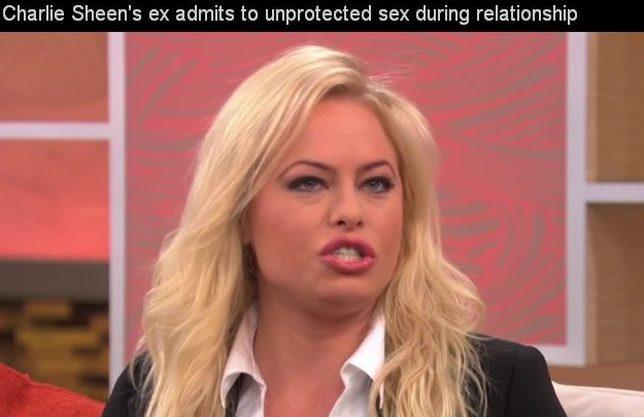 Amanda Bruce uprawiała seks bez zabezpieczeń z Sheenem