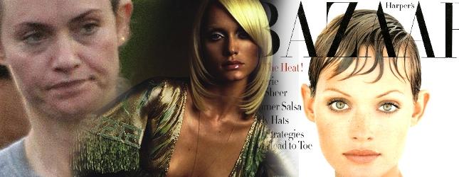 Była supermodelka Amber Valletta bez makijażu (FOTO)