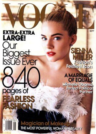 Sienna Miller w Vogue
