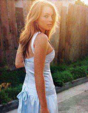 Nakryli Lindsay Lohan pod prysznicem
