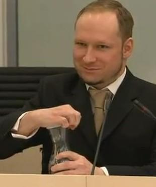 Anders Breivik skazany, ale uśmiechnięty (FOTO)